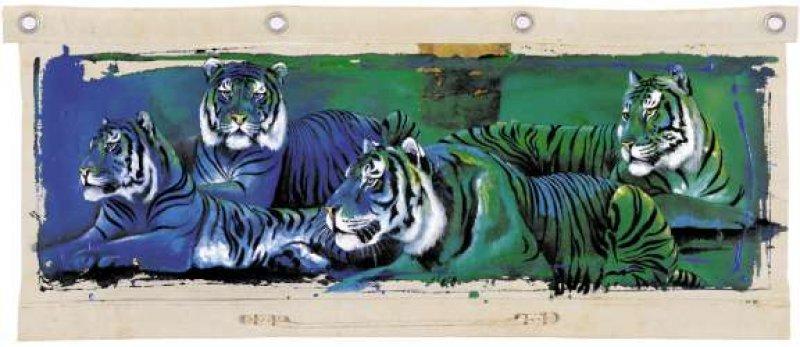 Kunstgrafik White Tigers (four)