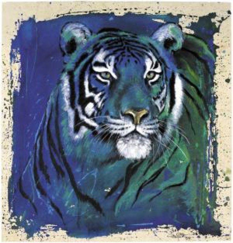 Kunstgrafik Eyes of the Tiger