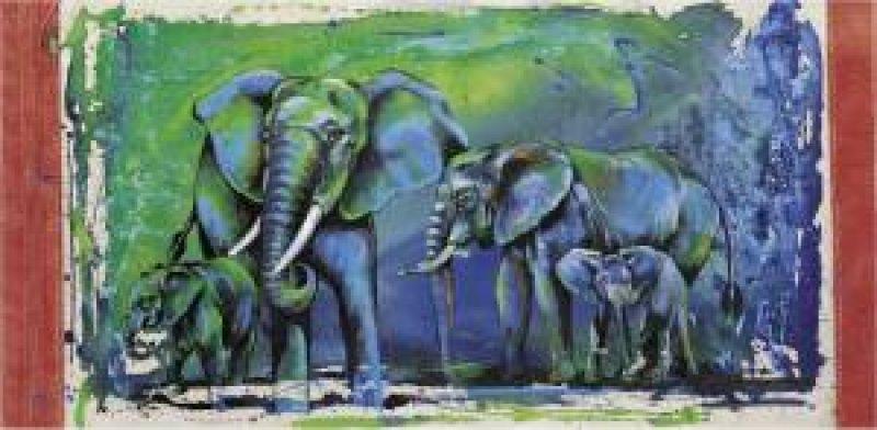 Kunstgrafik Wild Elephants